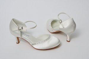 eleganckie damskie ślubne obuwie
